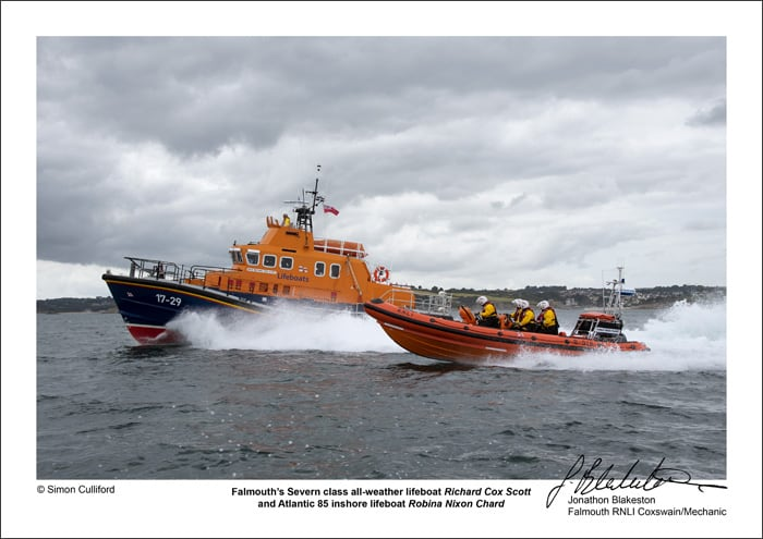 Falmouth lifeboats signed A3 72